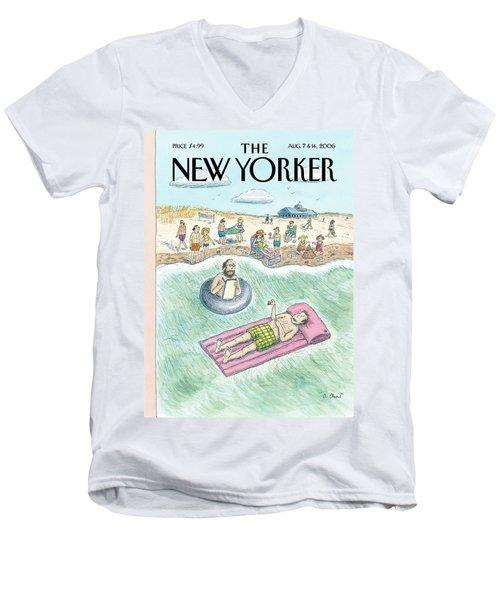 New Yorker August 7th, 2006 Men's V-Neck T-Shirt
