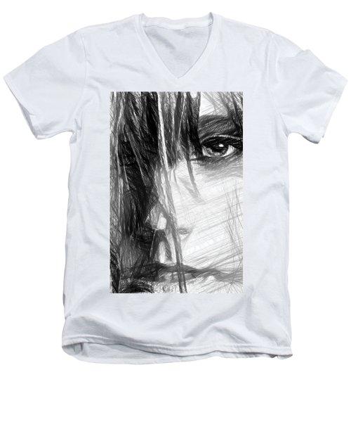 Facial Expressions Men's V-Neck T-Shirt