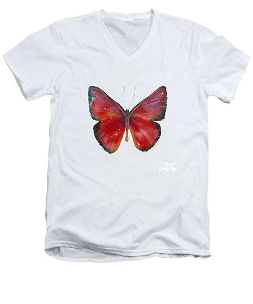 16 Mesene Rubella Butterfly Men's V-Neck T-Shirt