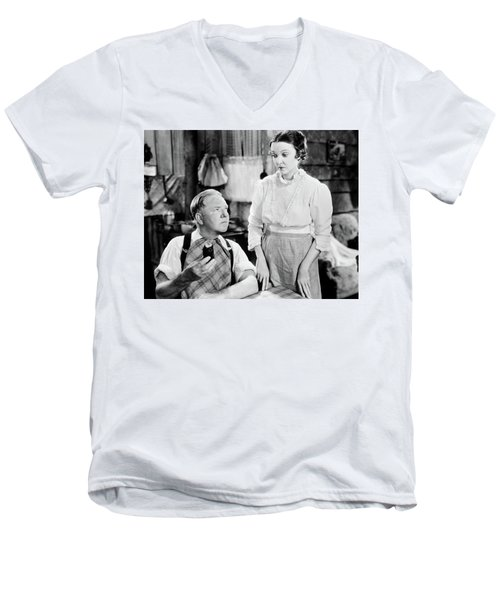 Men's V-Neck T-Shirt featuring the photograph W.c. Fields by Granger