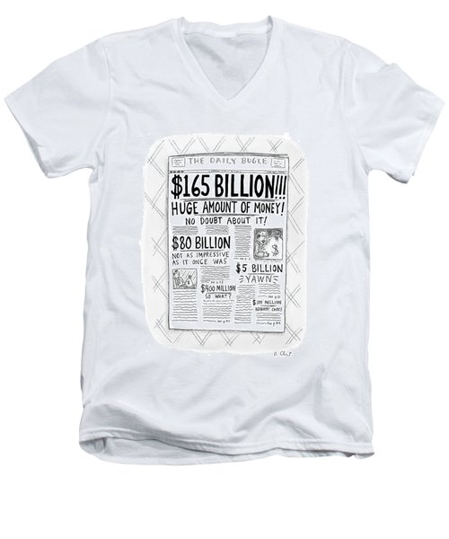New Yorker April 24th, 2000 Men's V-Neck T-Shirt