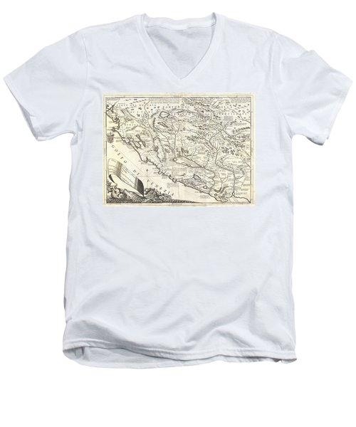 1690 Coronelli Map Of Montenegro Men's V-Neck T-Shirt