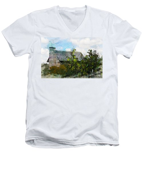 Men's V-Neck T-Shirt featuring the photograph 1810 Living by Robert Pearson