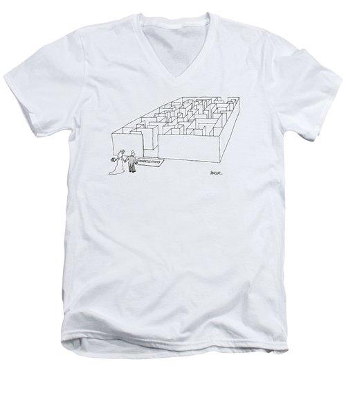 New Yorker July 10th, 2000 Men's V-Neck T-Shirt