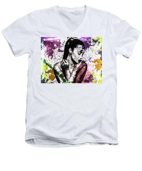 Demi Lovato Men's V-Neck T-Shirt