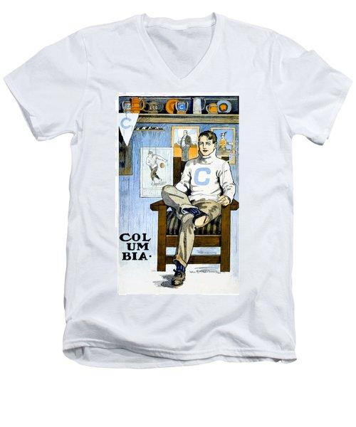 1902 - Columbia University Sports Poster - Color Men's V-Neck T-Shirt
