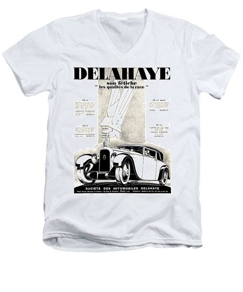1928 - Delehaye Automobile Advertisement Men's V-Neck T-Shirt