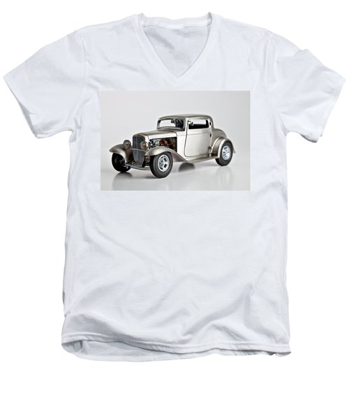 Men's V-Neck T-Shirt featuring the photograph 1932 Ford 3 Window Coupe by Gianfranco Weiss