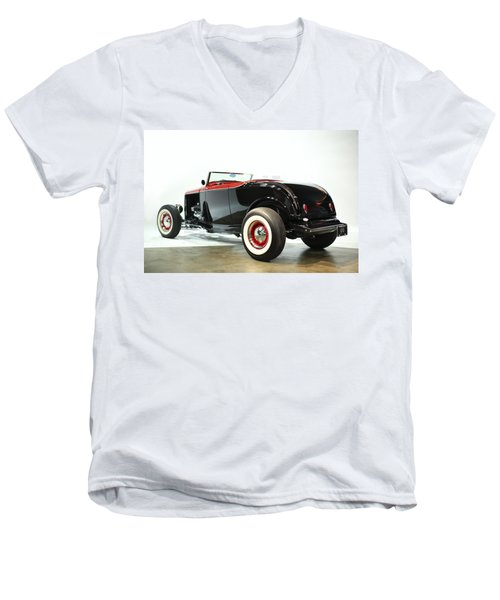 Men's V-Neck T-Shirt featuring the photograph 1932 Ford Deuce Roadster by Gianfranco Weiss