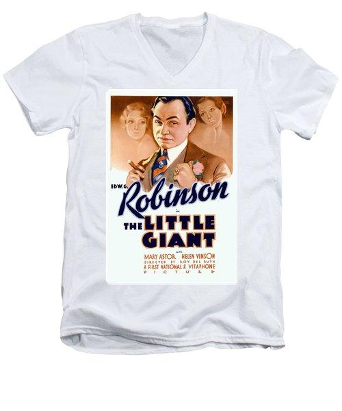 1933 - The Little Giant - Warner Brothers Movie Poster - Edward G Robinson - Color Men's V-Neck T-Shirt