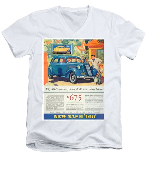 1936 - Nash Sedan Automobile Advertisement - Color Men's V-Neck T-Shirt