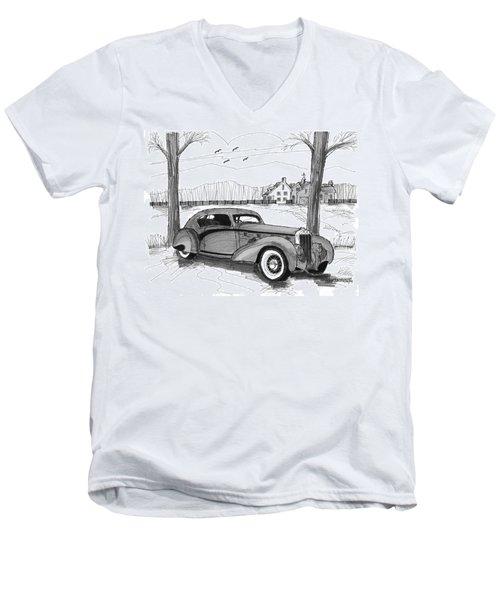 1937 Delage D8 120 Men's V-Neck T-Shirt