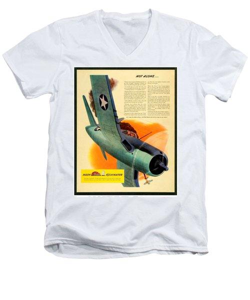 1943 - Nash Kelvinator Advertisement - Corsair - United States Navy - Color Men's V-Neck T-Shirt