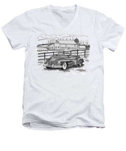 1947 Cadillac Model 52 Men's V-Neck T-Shirt