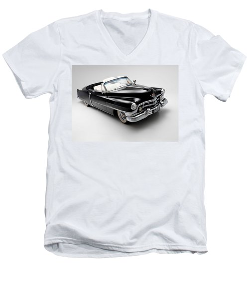 Men's V-Neck T-Shirt featuring the photograph 1950 Cadillac Convertible by Gianfranco Weiss