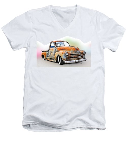 1950 Chevy Truck Men's V-Neck T-Shirt
