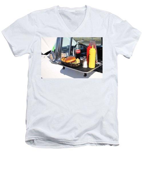 1950's Drive In Movie Snack Tray Men's V-Neck T-Shirt
