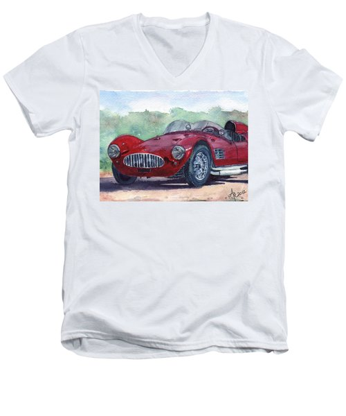 1954 Maserati A6 Gsc Tipo Mm Men's V-Neck T-Shirt