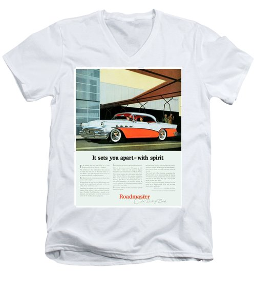 1956 - Buick Roadmaster Convertible - Advertisement - Color Men's V-Neck T-Shirt