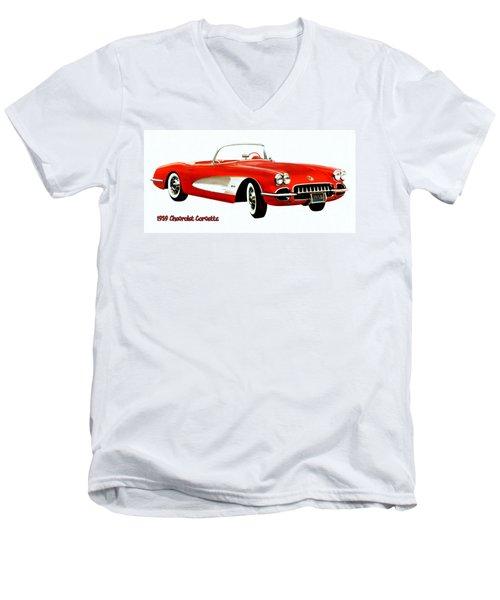 1959 Corvette Men's V-Neck T-Shirt
