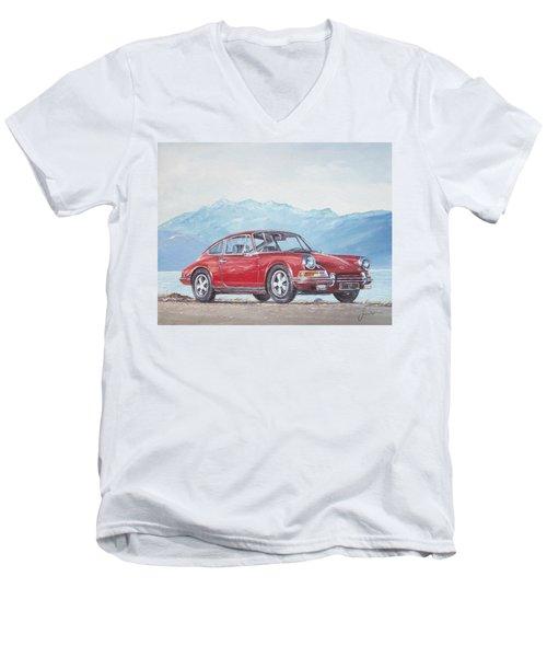 1969 Porsche 911 2.0 S Men's V-Neck T-Shirt