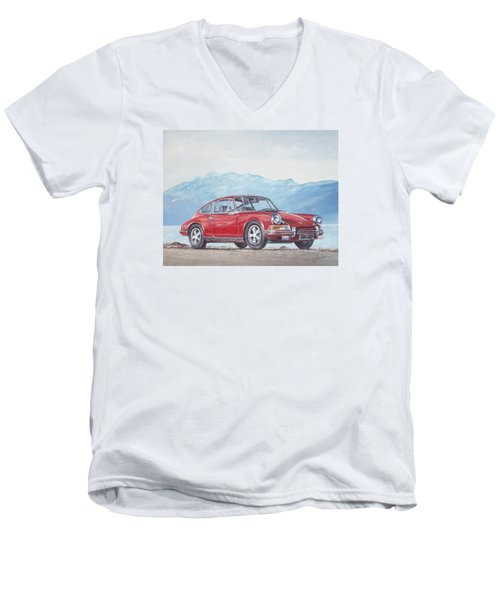 1969 Porsche 911 2.0 S Men's V-Neck T-Shirt