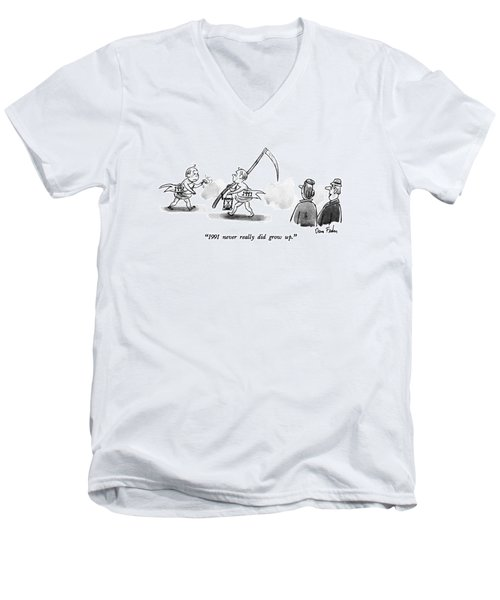 1991 Never Really Did Grow Up Men's V-Neck T-Shirt