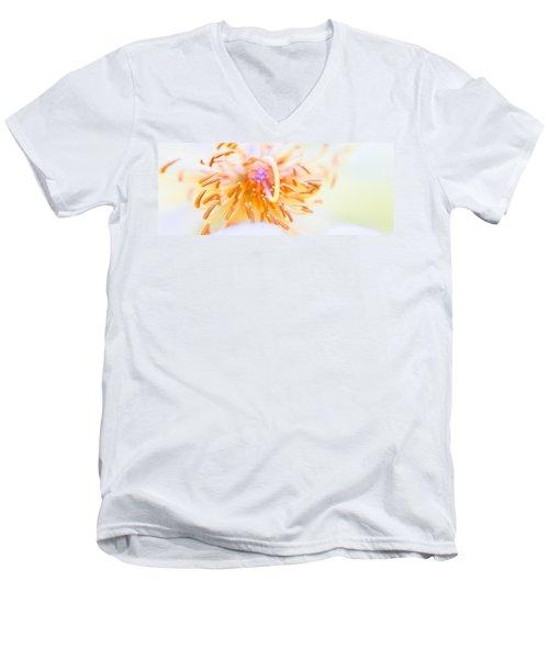 Abstract Flower Men's V-Neck T-Shirt by Ulrich Schade