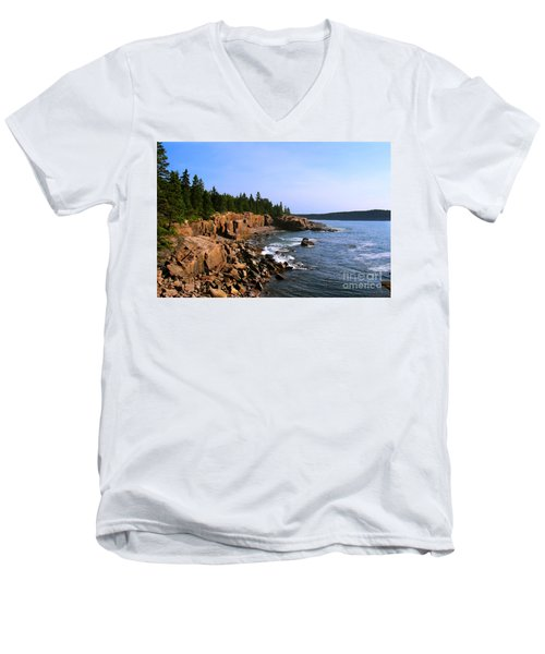 Acadia Coast Men's V-Neck T-Shirt