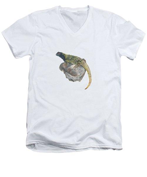 Argentine Lizard Men's V-Neck T-Shirt by Cindy Hitchcock