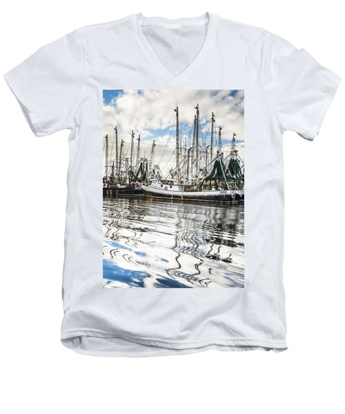 Bayou Labatre' Al Shrimp Boat Reflections Men's V-Neck T-Shirt