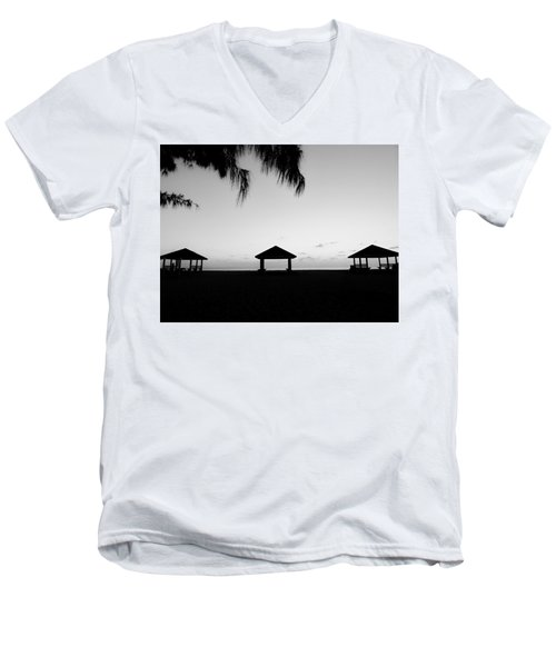 Men's V-Neck T-Shirt featuring the photograph Beach Huts by Amar Sheow