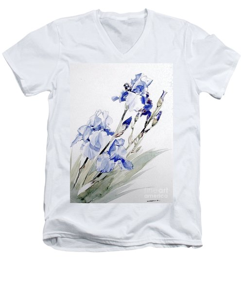 Blue Irises Men's V-Neck T-Shirt