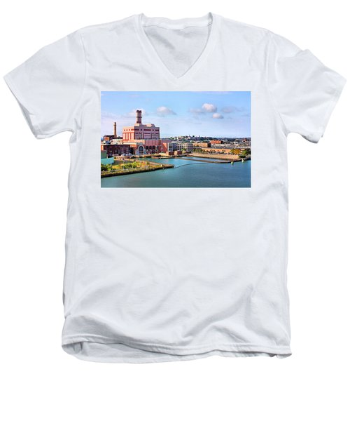 Men's V-Neck T-Shirt featuring the photograph Boston Harbor by Kristin Elmquist