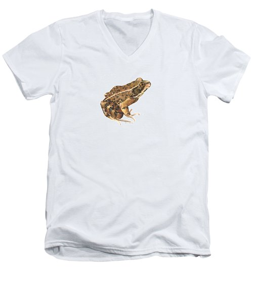 California Red-legged Frog Men's V-Neck T-Shirt by Cindy Hitchcock