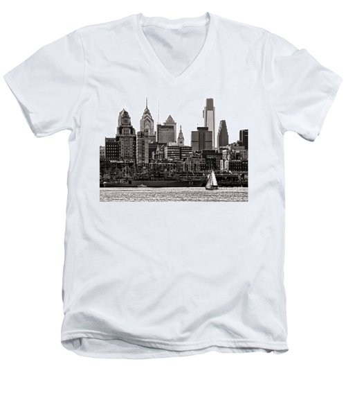 Center City Philadelphia Men's V-Neck T-Shirt