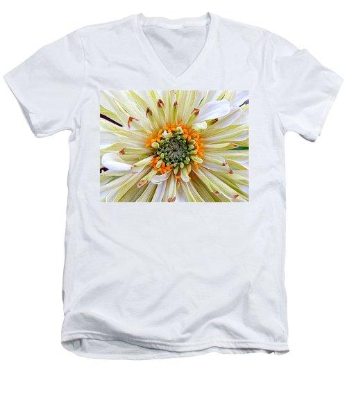 Chrysanthemum Fall In New Orleans Louisiana Men's V-Neck T-Shirt by Michael Hoard