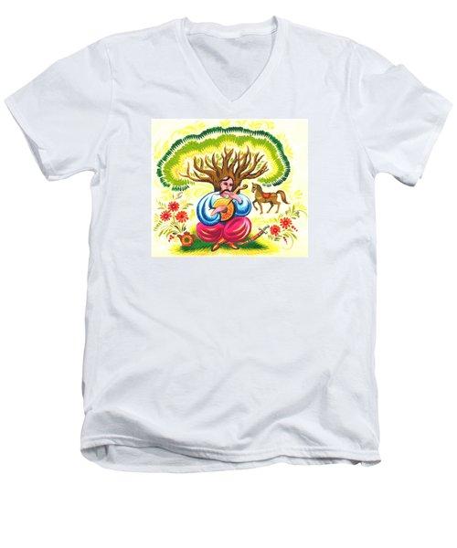 Cossack Mamay Men's V-Neck T-Shirt