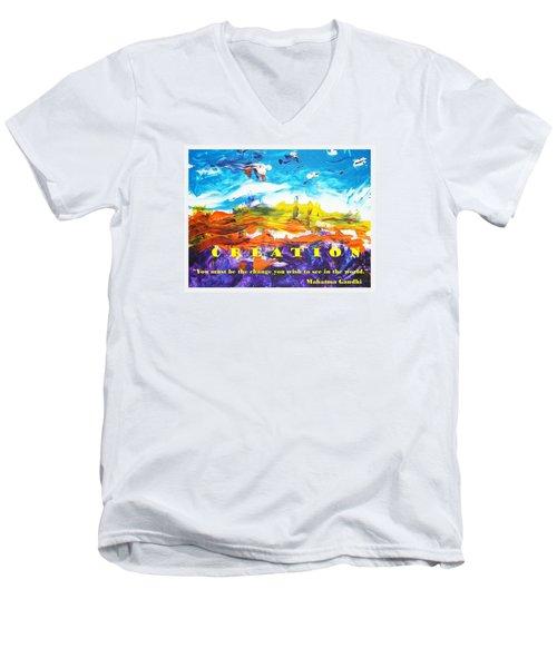 Creation Men's V-Neck T-Shirt