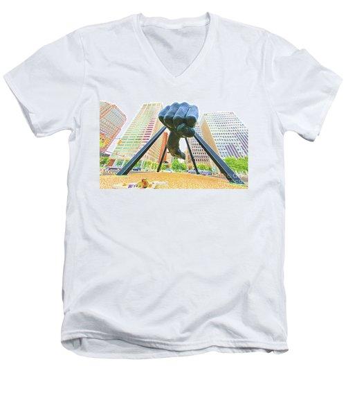 Detroit Fist Men's V-Neck T-Shirt