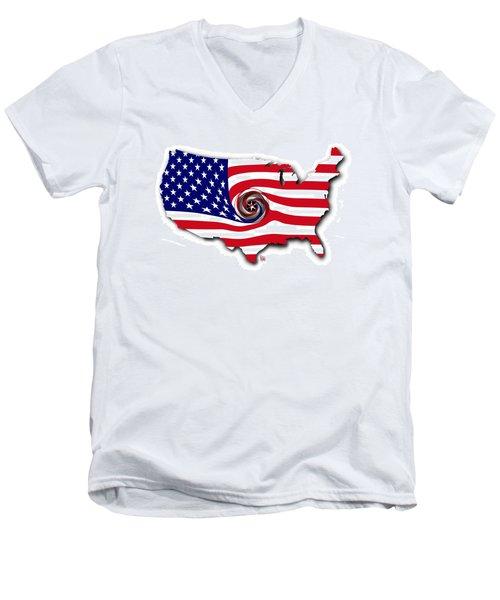 Down The Drain Men's V-Neck T-Shirt