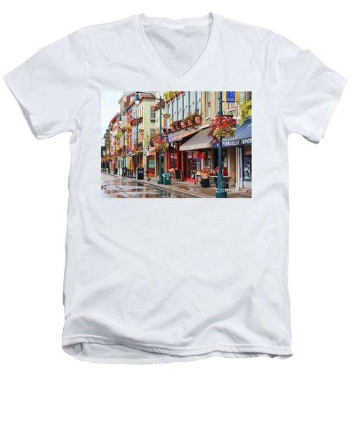 Findlay Market In Cincinnati 0009 Men's V-Neck T-Shirt