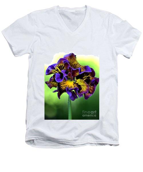 Frilly Pansy Men's V-Neck T-Shirt