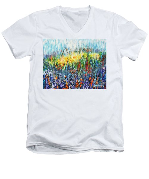 Glowy Clearing Men's V-Neck T-Shirt
