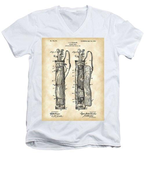 Golf Bag Patent 1905 - Vintage Men's V-Neck T-Shirt