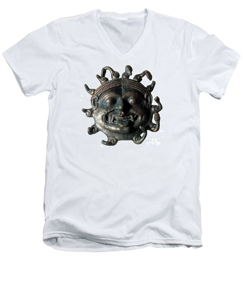 Gorgon Legendary Creature Men's V-Neck T-Shirt by Photo Researchers