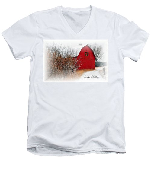 Men's V-Neck T-Shirt featuring the photograph Happy Holidays by Terri Gostola