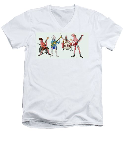 Sixties And Seventies Musicians Men's V-Neck T-Shirt