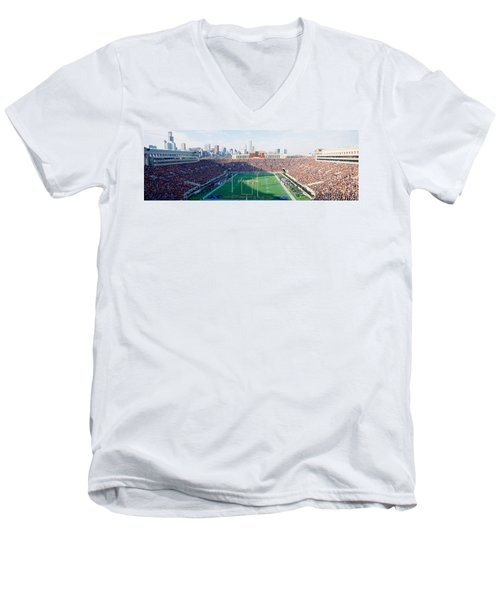 High Angle View Of Spectators Men's V-Neck T-Shirt by Panoramic Images