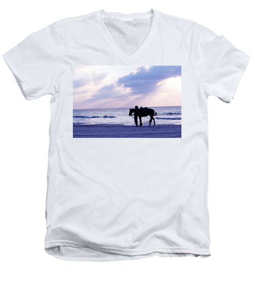 Walking Home From A Long Day Men's V-Neck T-Shirt